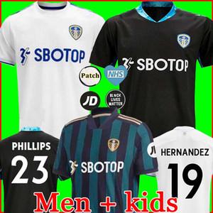 2020 2021 리즈 유나이티드 100 주년 축구 유니폼 COSTA 유명 백년 뱀 포드 CLARKE 백년 남자 어린이 축구 셔츠
