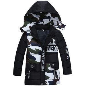 Bibihou Mädchen Parka Mantel Baby Mode Tarnung Winterjacke Outwear Kids Warm Cotton Padded Y200901