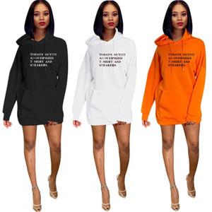 3 couleurs Femmes Deigner Hoodie High Street Letter Imprimé Pantalons pour femmes Sweat Robes simples pour Printemps Automne