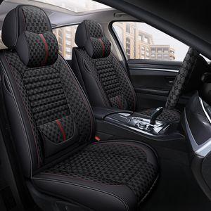 2020 مقعد جلدية فاخرة سيارة جديدة أغطية للBMW 1 3 5 سلسلة X1 X3 X5 X6 اكسسوارات حامي كتان خياطة غطاء العالمي بالكامل الداخلية
