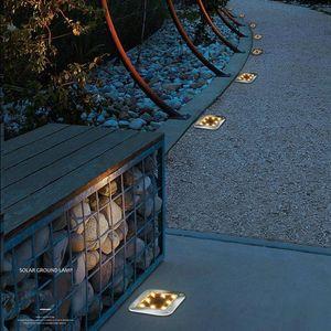 LED Square Solar Ground Light Outdoor Garden Floor Buried Lighting Lamp Garden Decking Yard Lawn Lamps