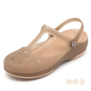 Summer Women Mules Beach Breathable Mary Janes Sweet Slippers Woman's Sandals Jelly Shoes Cute Garden Shoes Clog for Woman