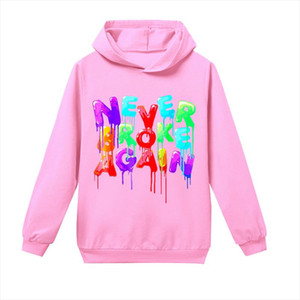 Youngboy Letters Printed Boys and Girls Casual Fashion Hoodie Cotton Newest Hip hop Style Hooded Sweatshirt Tops