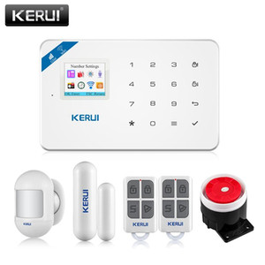 KERUI W18 Security Alarm pour la maison Alarm Systems Security Home GSM WiFi Garage Kit de maison intelligent avec Smoke Window Capteur Siren
