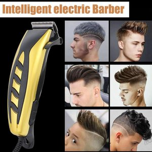 Metal Professional Hair Clipper Intelligent Electric Barber Tools Low Noise Electric Plug In Hair Grooming Cutting Kit#g40