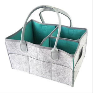 Felt Diaper Bag Maternal And Child Mommy Travel Foldable Storage Bags Portable Large Capacity Storage Bags Home Storage HA1265