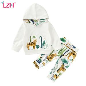 LZH Neugeborene Baby-Kleidung 2020 Herbst-Winter-Baby-Kleidung Drucke mit Kapuze Hosen-Anzug Kids Outfit Säuglings-Kleidung für Set