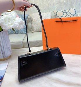 Original style Black Kelly Underarm bags 2020 latest style Fashion woman leather handbag shoulder bag Messenger bag