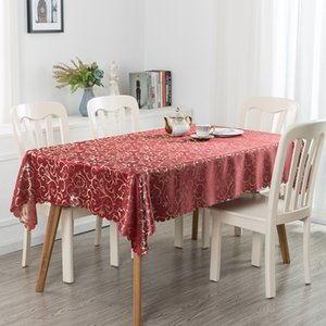 YRYIE 1PC Europe Luxury Polyester Jacquard Table Cover Hotel Square Fabric Tablecloth For Rectangle Desk Sale Y200421