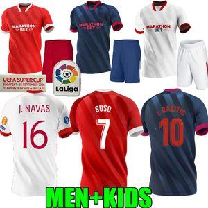 hijos adultos 2020 2021 Supercopa de la UEFA Sevilla Fútbol jerseys I.RAKITIC 20 21 Sevilla hogar J.NAVAS Diego Carlos J. Koundé suso Camiseta de fútbol
