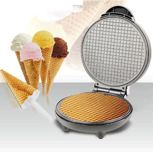 Multifunctional Electric Waffle Cone Machine Baking Mould Crispy Egg Bread Non-Stick Bakeware Practical Crepe Home Cook
