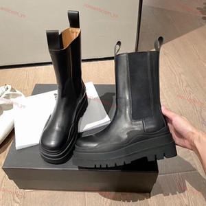 Bottega Veneta BV boots yeni moda Marque patik LASTİK BOT kadın platformu tıknaz çizme bayan çizme luxe tasarım kadınlar botlar Orta Buzağı desig botları boyutu 35-40