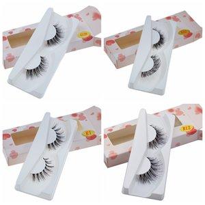 NOUVEAU 100% Mink modèles faux cils naturellement Messy Bushy Faux Cils Mode vrai cheveux Croix outil de maquillage