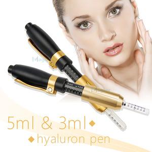 Hyaluron pen gun 5ml&3ml hyaluronic injection pen atomizer wrinkle removal water syringe needle free injection needless