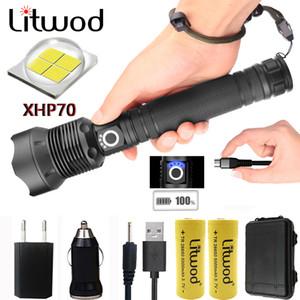 Litwod Z201282 CREE original XLamp XHP70 XHP50 alta potente linterna táctica LED 1865026650 linterna de batería