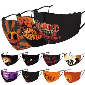 DHL face mask designer de Halloween rosto máscaras de Natal crânio PM2.5 poeira máscara dimensional 3D pode ser lavado e reutilizado máscara