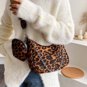 Leopard Crossbody Bags For Women High Capacity Ladies Shoulder Bags And Purses Patent leather Small Handbag
