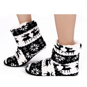 New Arrived Warm Socks for Boots Elk Coral Fleece Warm Indoor Boots Anti-slip Thick Plush Shoes Accessories
