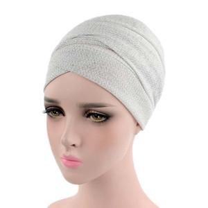 Berretto / cranio Cappucci musulmani elasticizzato cappello turbante solido india africa donna testa sciarpa wrap cap inverno ciclismo campeggio protezione a freddo cappello cappello