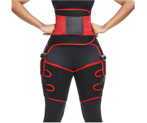 Best Seller 3 in 1 Women Hot Sweat Slim Thigh Trimmer Leg Shapers Push Up Waist Trainer Pants Fat Burn Neoprene Heat Compress Slimming belt