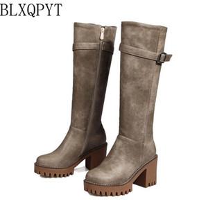 BLXQPYT Plus Sale Women Winter Shoes Knee High Boots Plus Big Size High Quality Shoes Woman Autumn Winter Boots X18-01