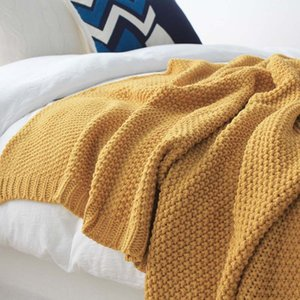 Tricotée Accueil Blanket Canapé Quilt Couvre-lit étudiant Adolescent Sleeper Plaid Couverture Bureau Femmes Mantas