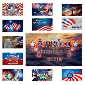 미국 독립 기념일 깃발 독립 기념일 3 개 * 5피트 미국 국기 부동 깃발 배너 플래그는 사용자 정의 플래그 XD23931 매달려