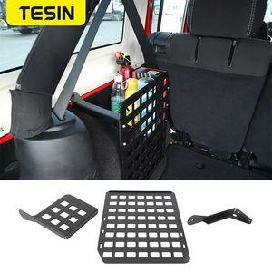 TESIN Stowing Tidying for Wrangler JK Car Trunk rack Tail Box Storage Rack Shelf for Wrangler 2007-2020 Accessories