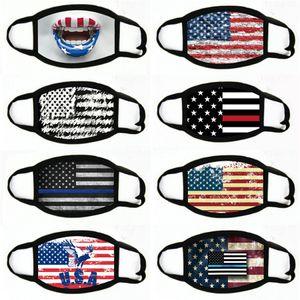 Adulti universale Maschera Fasion Flag Printing maschera antipolvere Wasale Adjustale Mask # 191