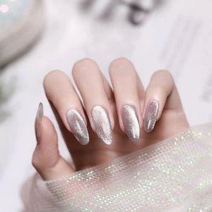 Quality24PCS / Установленные Градиентные Ложные гвоздики Нажмите на гвозди Французские наконечники для ногтей Хит цвет ногтей с помощью клея мода ногтей инструменты