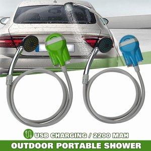 12V التخييم المحمولة دش الاستحمام لغسل السيارات والسيارات اللاسلكية 12V DC مضخة الضغط السفر في الهواء الطلق القافلة فان الحيوانات الأليفة خزان المياه
