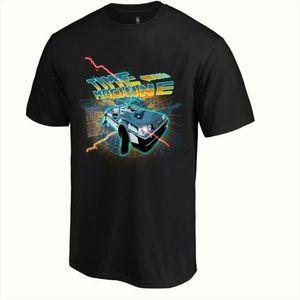 Time Machine Mens divertente Ritorno Al Futuro T-shirt ispirata DeLorean DMC Car