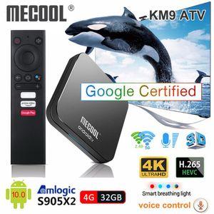 MECOOL KM9 PRO ATV Android 10.0 Smart TV BOX AMLOGIC S905X2 4GB DDR4 32GB 2.4G / 5G WiFi Bluetooth TVBOX Android10