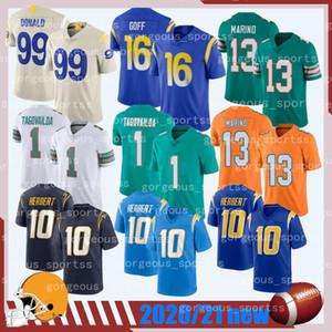 2020 nueva 16 GOFF 99 Donald nuevo fútbol de los jerseys de calidad superior TAGOVAILOA MARINO Herbert calidad superior camiseta de fútbol