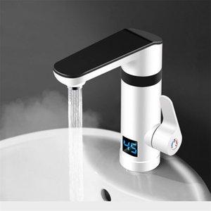 Bacia banheiro torneira de latão Hot Fria Sink Mixer Tap Single Handle Deck montar aquecimento rápido Display de temperatura torneira da cozinha