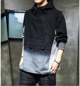 Hoddies Long Sleeve Homme Clothing Fashion Regular Length Casual Apparel Gradient Color Plus Size Hoodie Mens Designer Pullover Hooded
