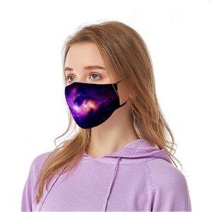 1 1pcs Máscaras Fa 3 f capas a prueba de polvo facial Maske Er Ski Set Polvo Dener Impreso Mout Máscara adultos Famask E7M # 662 # 365