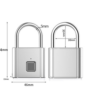 Usb Rechargeable Smart Keyless Electronic Fingerprint Lock Home Anti-theft Security Safety Padlock Door Luggage Lock New Fashion