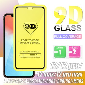 9D Full Cover Tempered Glass for iPhone 12 Pro max Samsung S20FE A21s Huawei P40 Full Screen Protector without Box