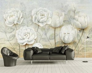 Photo 3d Wallpaper 3d Flower Wallpaper European Tulips and Roses Background Wall Decorative Painting Romantic Floral 3d Wallpaper
