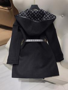 Lã 2020 New encapuçados Luxo misturas de lã das mulheres Designer de Mulheres Blends Marca mesmo estilo Coats 0919-7