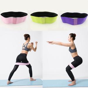 Bandas de resistencia Círculo de banda de cadera Anti deslizamiento Empresador Ejercicios Ejercicios Braidados Elástico Yoga Inicio Gimnasios Fitness Hips Equipment