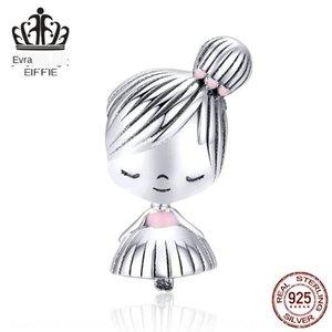 EOBQ3 S925 prata esterlina moda namorada pulseira infância menina S925 prata DIY de contas pulseira DIY frisado acessórios childh