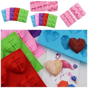 Love Silicone Forfls Bolles de SiliCona Cube Cube Flush Трехмерная мыльная плесень Выпечки Поставки Кухонные утварь Аксессуары 4 6мх F2