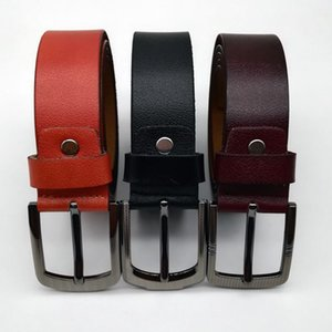 Men's Leather Belt Retro Design Pin Buckle Belt Korean Style