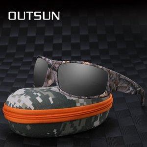 OUTSUN поляризованные очки TR90 Мужчины Женщины Спортивная рыбалка Вождение ВС очки Марка Дизайнер Камуфляж кадров De Sol