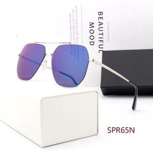 Brand Design Lunettes de soleil mode qualité miroir femmes concepteur de marque mâle métal surdimensionné lunettes démodées hommes la mode masculine féminine de