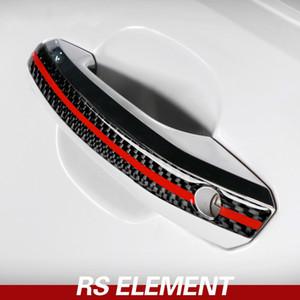 Araba Şekillendirme Dış Karbon Fiber Kapı Kolu Anti-çarpışma Audi A4 A5 2017-2022 Aksesuar Trim Kapağı Şeritleri