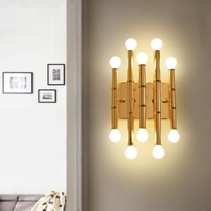 Estilo simple lámpara de pared de la sala de estar Habitación Hotel Villa Pasillo creativo de bambú Ventas neoclásico Chinese Wall Mounted Room Dining