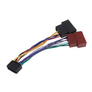 Car Radio Sound Adapter Cable 16 Pin ISO Socket For Kenwood   JVC